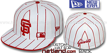 SF Giants 'FABULOUS' White-Red Fitted Hat by New Era