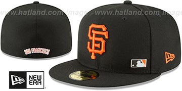 SF Giants 'FLAWLESS PINNED-UP' Black Fitted Hat by New Era