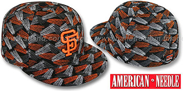 SF Giants FLICKER Black Fitted Hat by American Needle