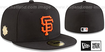 SF Giants GILDED TURN Black Fitted Hat by New Era