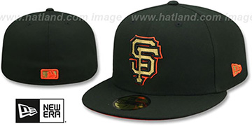 SF Giants GOLD METALLIC STOPPER Black Fitted Hat by New Era