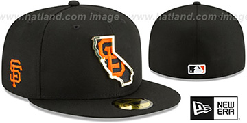 SF Giants GOLD STATED INSIDER Black Fitted Hat by New Era