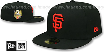 SF Giants 'GOLDEN-HIT' Black Fitted Hat by New Era