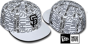SF Giants GOOD TIMES ALL-OVER White-Black Fitted Hat by New Era
