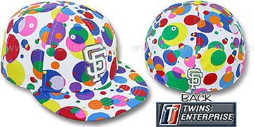 SF Giants 'GUMBALL' White-Multi Fitted Hat by Twins