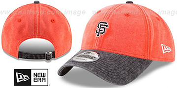 SF Giants GW RUGGED CANVAS STRAPBACK Orange-Black Hat by New Era