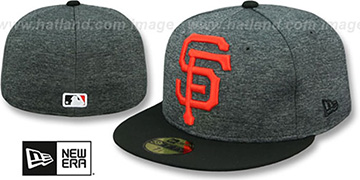 SF Giants HEATHER-HUGE Grey-Black Fitted Hat by New Era