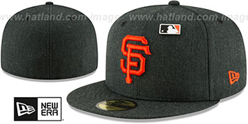 SF Giants 'HEATHERED-PIN' Black Fitted Hat by New Era