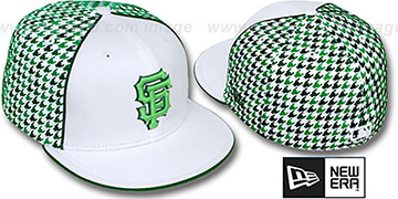 SF Giants HOUNDSTOOTH White-Green Fitted Hat by New Era