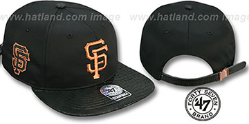 SF Giants JULIGUNK STRAPBACK Black-Copper Hat by Twins 47 Brand