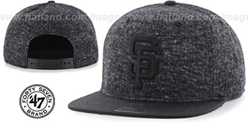 SF Giants 'LEDGEBROOK SNAPBACK' Black Hat by Twins 47 Brand