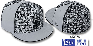 SF Giants LOS-LOGOS Grey-Black Fitted Hat by New Era