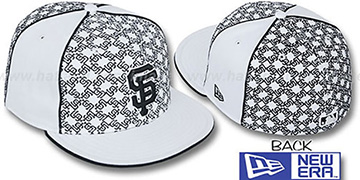SF Giants LOS-LOGOS White-Black Fitted Hat by New Era