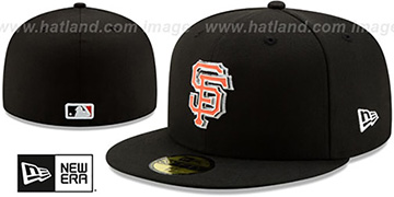 SF Giants METAL-N-THREAD Black Fitted Hat by New Era