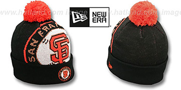 SF Giants 'MLB-BIGGIE' Black Knit Beanie Hat by New Era