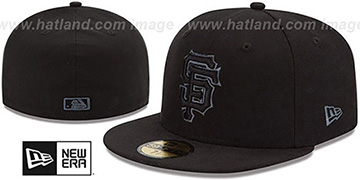 SF Giants 'MLB FADEOUT-BASIC' Black Fitted Hat by New Era