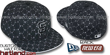 SF Giants 'MLB FLOCKING' Black Fitted Hat by New Era