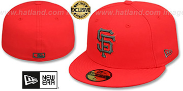SF Giants MLB TEAM-BASIC Fire Red-Charcoal Fitted Hat by New Era