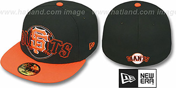 SF Giants NEW MIXIN Black-Orange Fitted Hat by New Era
