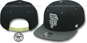 SF Giants NIGHT-MOVE SNAPBACK Adjustable Hat by Twins 47 Brand