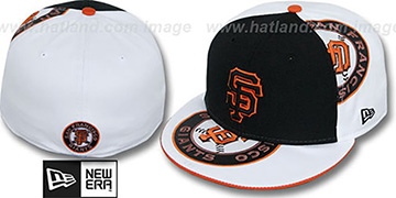 SF Giants 'ORLANTIC-3' Black-White Fitted Hat by New Era