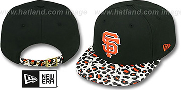 SF Giants OSTRICH-LEOPARD STRAPBACK Hat by New Era