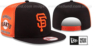 SF Giants PANEL PRIDE SNAPBACK Hat by New Era