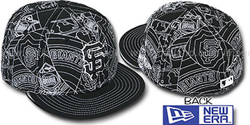 SF Giants PUFFY REMIX Black-White Fitted Hat by New Era