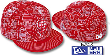 SF Giants 'PUFFY REMIX' Red-White Fitted Hat by New Era