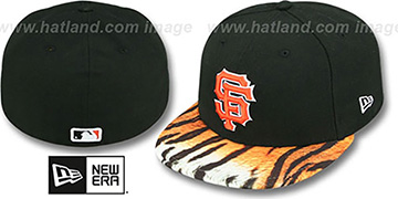 SF Giants REAL TIGER VIZA-PRINT Black Fitted Hat by New Era