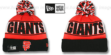 SF Giants REP-UR-TEAM Knit Beanie Hat by New Era