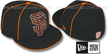 SF Giants REPEAT BIG-ONE Black Fitted Hat by New Era