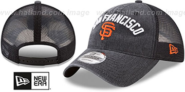 SF Giants RUGGED-TEAM TRUCKER SNAPBACK Black Hat by New Era