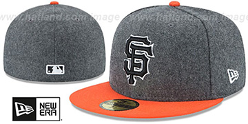 SF Giants 'SHADER MELTON' Grey-Orange Fitted Hat by New Era