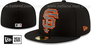 SF Giants 'SHIMMER-XL' Black Fitted Hat by New Era