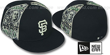 SF Giants SHOWMEDA$ Black-Money Fitted Hat by New Era