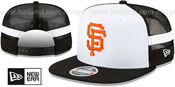SF Giants SIDE-STRIPED TRUCKER SNAPBACK Hat by New Era