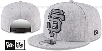 SF Giants SILKED-XL SNAPBACK Heather Light Grey Hat by New Era