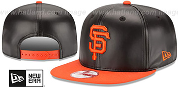 SF Giants SMOOTHLY STATED SNAPBACK Black-Orange Hat by New Era