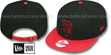 SF Giants 'SNAKE-THRU STRAPBACK' Black-Red Adjustable Hat by New Era