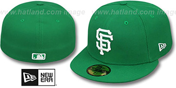 SF Giants 'St Patricks Day 2' Green-White Fitted Hat by New Era