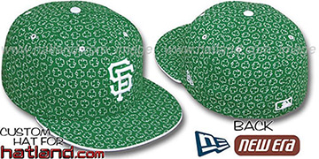 SF Giants 'ST PATS FLOCKING' Kelly Fitted Hat by New Era