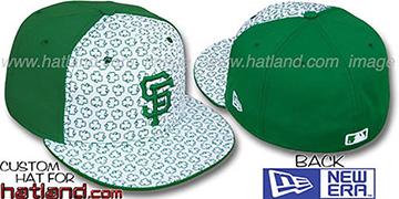 SF Giants 'ST PATS FLOCKING PINWHEEL' White-Kelly Fitted Hat by New Era