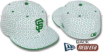 SF Giants 'ST PATS FLOCKING' White Fitted Hat by New Era