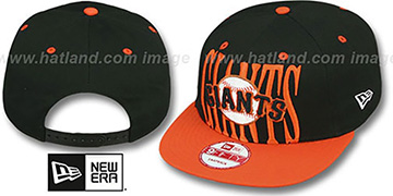 SF Giants STEP-ABOVE SNAPBACK Black-Orange Hat by New Era