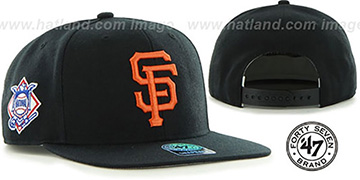 SF Giants 'SURE-SHOT SNAPBACK' Black Hat by Twins 47 Brand