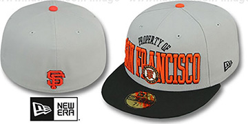 SF Giants TEAM-PRIDE Grey-Black Fitted Hat by New Era