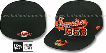SF Giants 'THE BEGINNING' Black Fitted Hat by New Era