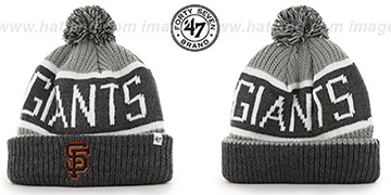 SF Giants 'THE-CALGARY' Grey-Grey Knit Beanie Hat by Twins 47 Brand