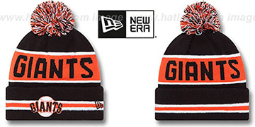 SF Giants THE-COACH Black Knit Beanie Hat by New Era